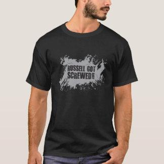 T-shirt Russ des hommes obtenu a vissé la pièce en t grise