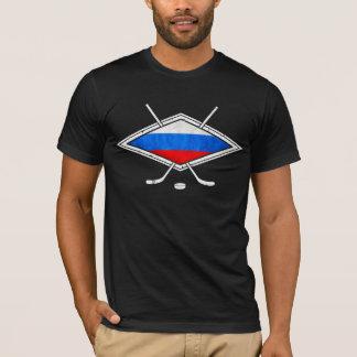 T-shirt russe de hockey sur glace avec la copie