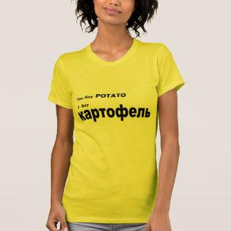 """T-shirt Russe """"vous dites la pomme de terre """""""
