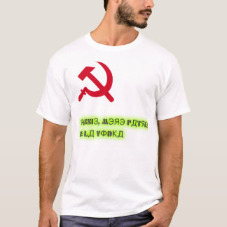 T-shirt Russie, patrie de la vodka :DD