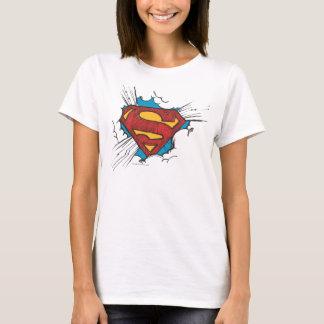 T-shirt S-Bouclier | de Superman dans le logo de nuages