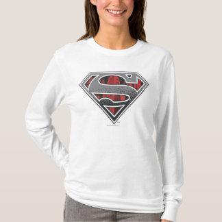 T-shirt S-Bouclier logo gris et rouge de | de Superman de