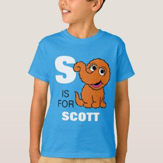 T-shirt S est pour Snuffleupagus   ajoutent votre nom