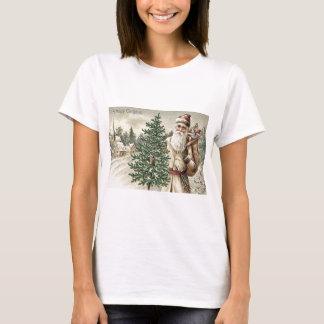 T-shirt Sac à arbre de Noël du père noël d'église de