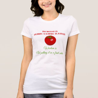 T-shirt Sagesse de tomate