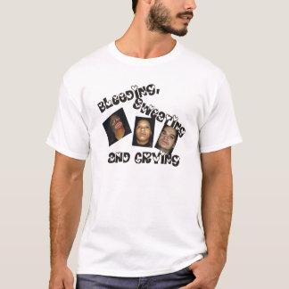 T-shirt saignant, de transpiration et de pleurer