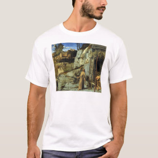 T-shirt Saint Francis dans le désert par Giovanni Bellini