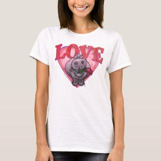T-shirt Saint-Valentin d'hippopotame