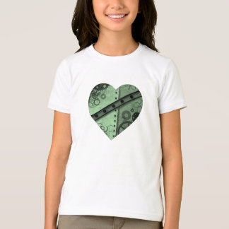 T-shirt Saint-Valentin pâle - hea vert et noir de