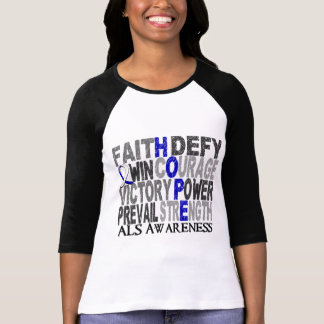 T-shirt SAL de collage de mot d'espoir