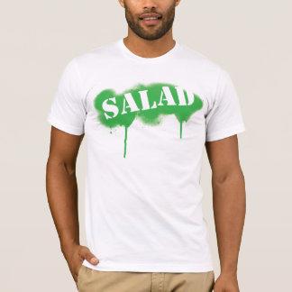 T-shirt Salade étiquetée (t) adapté - vert/blanc