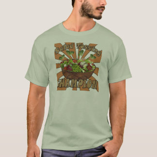 T-shirt Salade jetant le champion en l'air