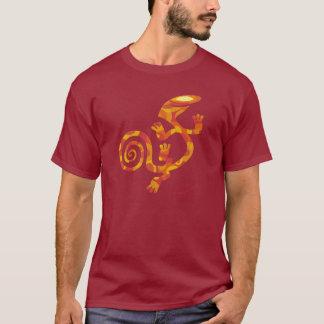 T-shirt Salamandre (imaginaire orange)