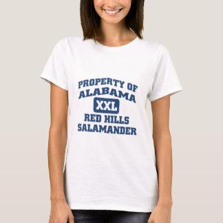 T-shirt Salamandre rouge de collines de l'Alabama XXL