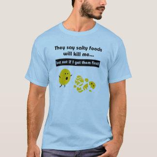 T-shirt salé de casse-croûte