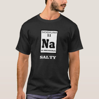 T-shirt Salé. Humeur de table périodique