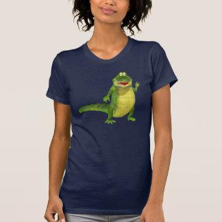 T-shirt Salé le tee - shirt d'obscurité de crocodile