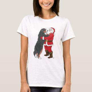 T-shirt Salutation de Noël de chien de montagne de Bernese