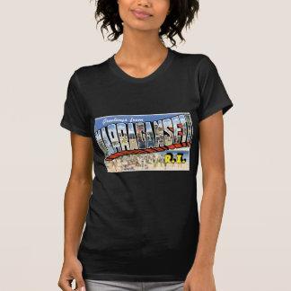 T-shirt Salutations de Narragansett, Île de Rhode ! Rétro