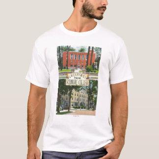T-shirt Salutations des scènes d'université de Skidmore
