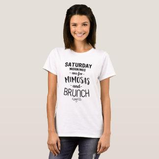 T-shirt Samedi matins sont pour les mimosas et le brunch