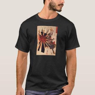 T-shirt Samouraïs défendant contre la coquille de