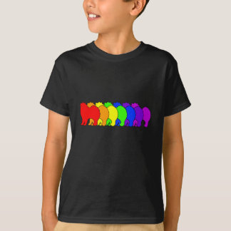 T-shirt Samoyed d'arc-en-ciel