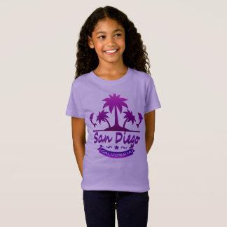T-Shirt San Diego, dauphins de CA avec des palmiers