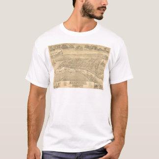 T-shirt San Pedro, carte panoramique 1895 (1319A) de CA
