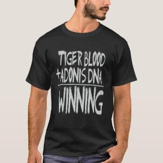 T-SHIRT SANG DE TIGRE, ADN D'ADONIS… GAGNANT !