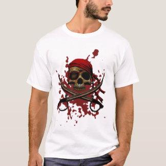 T-shirt sanglant de crâne de pirate