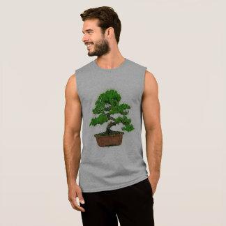 T-shirt sans manche d'arbre japonais des bonsaïs