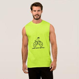 T-shirt sans manche de Bicycler étrange de