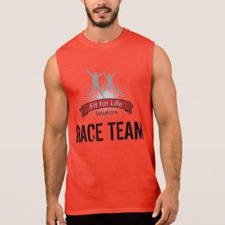T-shirt Sans Manches Ajustement pour l'équipe de course de la vie