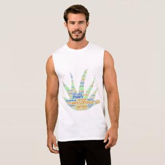 T-shirt Sans Manches Alove Vera illustrée avec des villes de la Floride