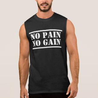 T-shirt Sans Manches Aucune douleur aucune chemise de muscle de gain