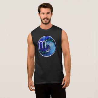 T-shirt Sans Manches Beau nocturne bleu de spirale de saphir de