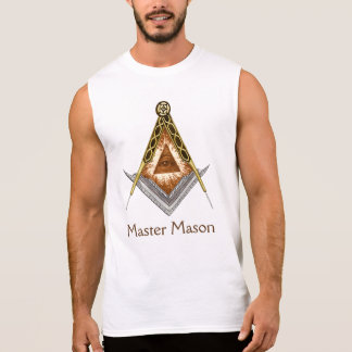 T-shirt Sans Manches Carré et boussole avec tout l'oeil voyant
