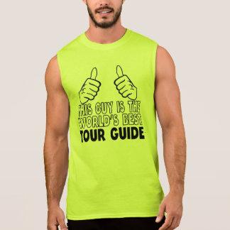 T-shirt Sans Manches Ce type est le meilleur guide touristique du monde