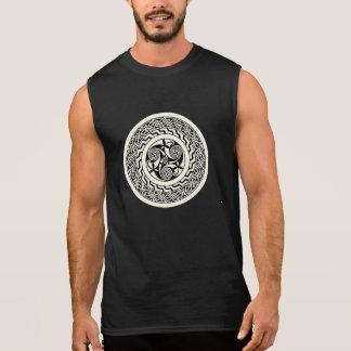 T-shirt Sans Manches Chemise celtique antique de motif