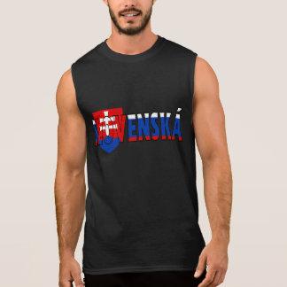 T-shirt Sans Manches Chemise de la Slovaquie