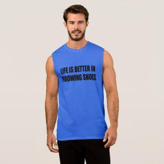 T-shirt Sans Manches Chemise de lancement de lanceur d'athlétisme de