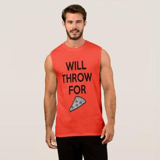 T-shirt Sans Manches Chemise drôle de lanceur d'athlétisme