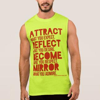T-shirt Sans Manches chemise du muscle des hommes rouges d'attraction
