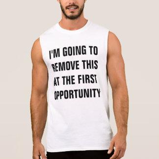 T-shirt Sans Manches chemise pour le décollage
