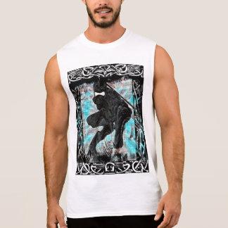 T-shirt Sans Manches Chemise sans manche d'impression blanc de Ninja