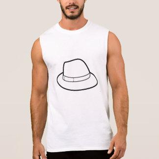T-shirt Sans Manches chemise simple de montant de casquette étirable