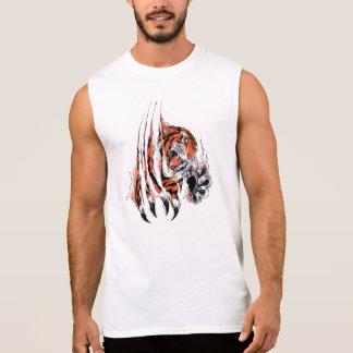 """T-shirt Sans Manches Chemise «Tigre """""""