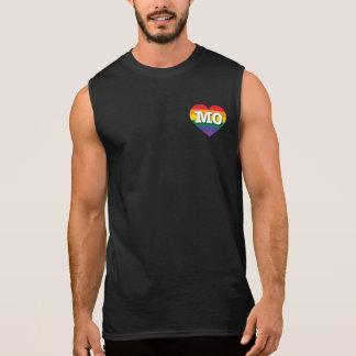 T-shirt Sans Manches Coeur d'arc-en-ciel de gay pride du Missouri -