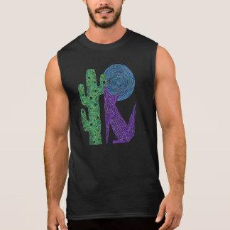 T-shirt Sans Manches Conception du sud-ouest colorée de loup pourpre de